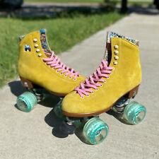 Moxi Lolly Roller Skates Pineapple Yellow & Floss Wheels – Size 7 (w8-8.5)