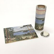 1940s Kingsbridge Handcut Wood Jigsaw Puzzle This is Sweden 150 pc Original Can