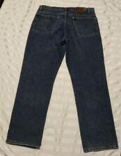 Ralph Lauren Double RR RRL Denim Blue Jeans Button Fly Mens Measured 36X30 USA
