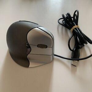 Evoluent Vertical Mouse 4 VM4R Right Handed Ergonomic Mouse Ergonomic Black USB
