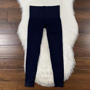Spanx Assets Women's Size Small Blue Denim Like Seamless Leggings Pants