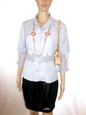 JACQUELINE RUI Womens Vtg Embroidery Formal Tailored Linen Crop Jacket sz M AG10