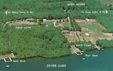 LAM(C) Silver Lake, MI - Bird's Eye View of Lake Shore with Highlights Cited