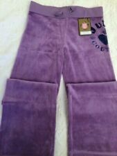New With Tag Juicy Couture Girls Velour pants size 8