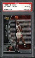 1998-99 Upper Deck Ionix #3 Michael Jordan Chicago Bulls HOF PSA 10 GEM MINT