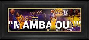 """Kobe Bryant Los Angeles Lakers Framed 10"""" x 30"""" Mamba Out Collage - Fanatics"""