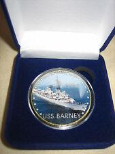 US NAVY - USS BARNEY (DDG-6) Challenge Coin w/ Gift Box