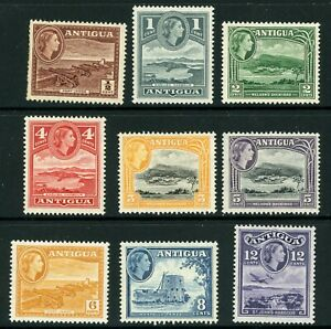 British QEII Antigua Sc #107-115 Complete Set MNH Y492