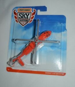 2018 MATCHBOX SKY BUSTERS SIKORSKY S-92 HELICOPTER GDY48 VHTF !!