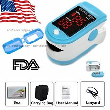 US LED Fingertip Pulse oximeter oxymeter spo2,PR monitor Blood Oxygen,50DL+case