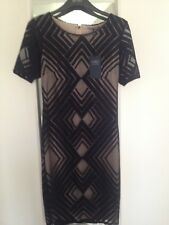 Marks and Spencer Collection Dress Black & Nude Size 10