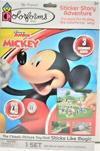The Original Colorforms Disney MICKEY Sticker Story Adventure Book for Ages 3+
