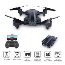 Foldable GPS drone with 1080P HD camera 5G wifi FPV RC...