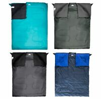 Trespass Catnap 3 Season Double Sleeping Bag Camping Travel 180cm x 140cm