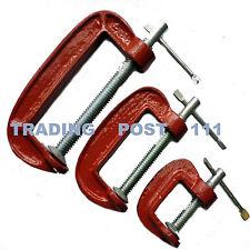 """Neilsen Metal G Clamps 1"""" 2"""" & 3"""" Clamping Metalwork Woodwork Craft   21C"""