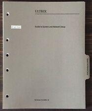 Digital Dec Ultrix Guide To System And Network Setup 1991