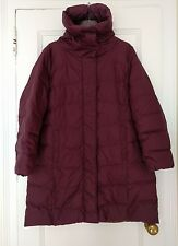 Eileen Fisher Woman Duck Down Coat 1X Plus puffer eggplant purple stand collar