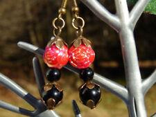 Floral Mode-Ohrschmuck mit Perlen (Imitation) für Damen