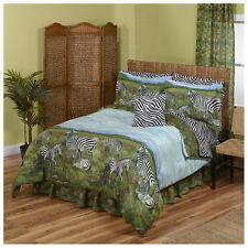 Zebra, Jungle, Safari, African Queen Comforter, Sheet Set (8 Piece Bed In A Bag)