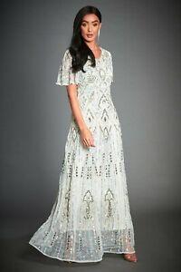 Jywal Isabella White Gatsby Evening Formal 1920s Wedding Dress 8 10 12 14 16