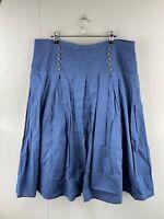 Katies Women's Casual Long Lined Zip Skirt Size 18 Blue