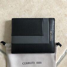 Portefeuille Porte-cartes CERRUTI Cuir Noir Homme Neuf Authentique