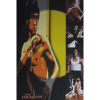 """Bruce Lee Poster - The Dragon - Multiple Images Collage - 36 x 24"""" 91x 61 cm"""