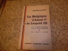 1950.La Belgique d'Albert Ier et de Léopold III.Barbey Frédéric