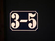 Hausnummer reflektierend 28x20 cm, Ziffern nach Wunsch, Aluminium