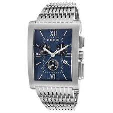 f0ba3a3e451 Gucci Ya086318 Men s G Metro Chronograph Stainless Steel Navy Blue Dial  Watch