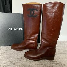 Chanel Riding Boots With Box & Dusters Size 38