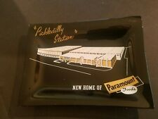 "PARAMOUNT FOODS Advertising Glass Tray ""Pickledilly Station"" Plant"
