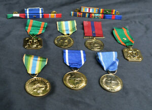 Ohh-Rah LOT of 9 USMC MARINE CORPS MEDALS / RIBBONS - ANODIZED
