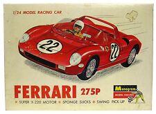 Vintage 1960's Monogram Ferrari 275P 1/24 Slot Car w/Brass Chassis & Box