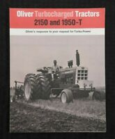 "1968 ""NEW OLIVER 2150 & 1950T TURBOCHARGED TRACTOR"" CATALOG BROCHURE VERY NICE"