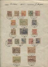 Lokalausgabe Cottbus 1-16 und 21-24 auf Sammlerblatt mit PF 11 V (B06557)
