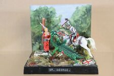 BRITAINS STADDEN HISTOREX RECAST ST GEORGE and the DRAGON DIORAMA nv