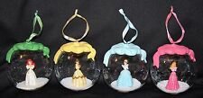 Princess Snow Globe Christmas Ornament Disney Ariel, Cinderella, Belle, Aurora