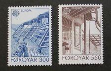 Europa, Architecture stamps, 1987, Faroe Islands, SG ref: 144 & 145, MNH