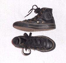 CONVERSE montantes cuir noir P 30  (12 ½) TBE