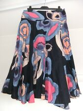 "French Connection Skirt Lined Cotton Side Zip Size 12 L31"" Blue Pink Orange"