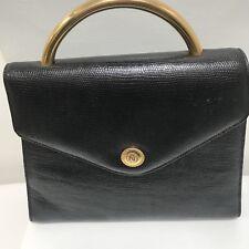 Vintage Albert Nipon Purse Top Handle Box Handbag Shoulder Strap 1980's Career