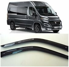 For Fiat Ducato 2014-2017 Window Visors Side Sun Rain Guard Vent Deflectors
