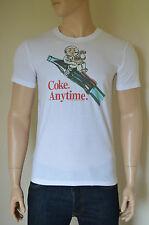 Nueva Abercrombie & Fitch Coca-cola Coke Vintage Gráfico Tee camiseta blanca M
