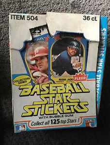 1981 Fleer Baseball Stickers Wax pack Complete box 36 sealed packs