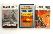 Lot de 3 poches de CLAUDE JOSTE - Espionnage - Inter services deuil -Fleuve Noir