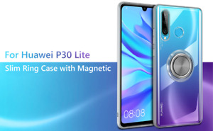 Vunake Case for Huawei P30 Lite, Silicone TPU Ultra Slim Cover Transparent