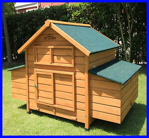 PETS IMPERIAL® LARGE SAVOY WITH DOUBLE NEST BOX HEN POULTRY HUTCH RUN