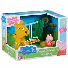 New Peppa Pig Outdoor Fun Swing Playset & Figure Official