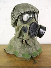 Vintage 1987 US M17 A1 A2 Chemical Bio NBC Gas Mask Hood M6A2 NOS